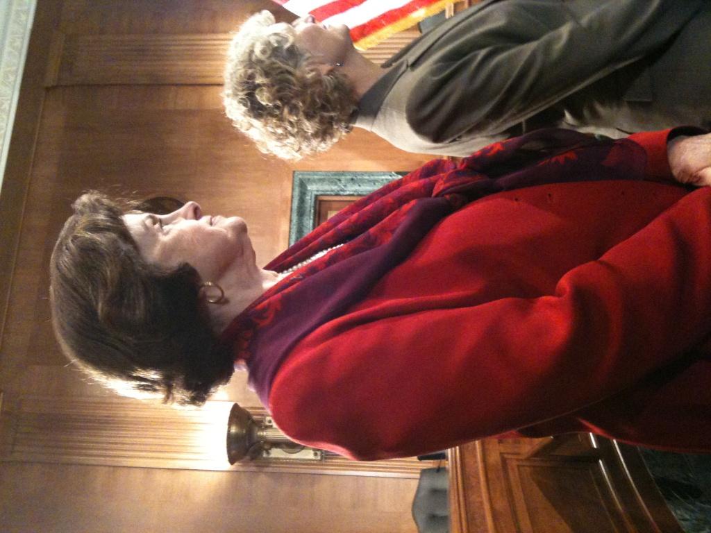 Senator Dianne Feinstein and Pali Cooper