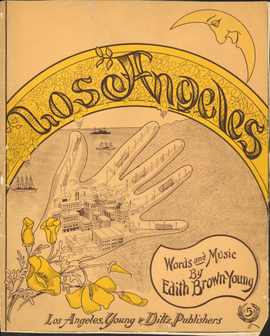 Sheet music cover for 1909 song