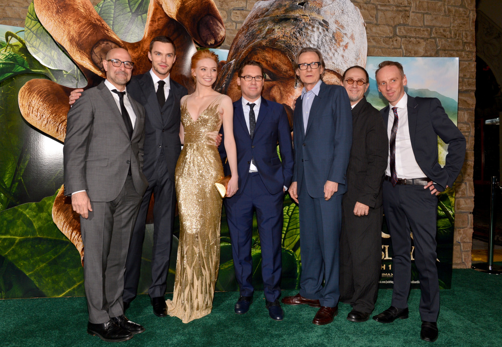 Actors Stanley Tucci, Nicholas Hoult,  Eleanor Tomlinson, director Bryan Singer, actors Bill Nighy, John Kassir, and  Ewen Bremner attend the premiere of New Line Cinema's