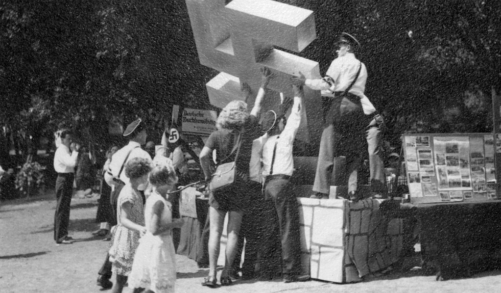 Raising the Swastika at German Day Celebration, Hindenburg Park
