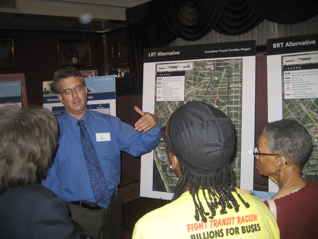 LA County METRO staffer Dave Monks discusses transit options for the Crenshaw Corridor