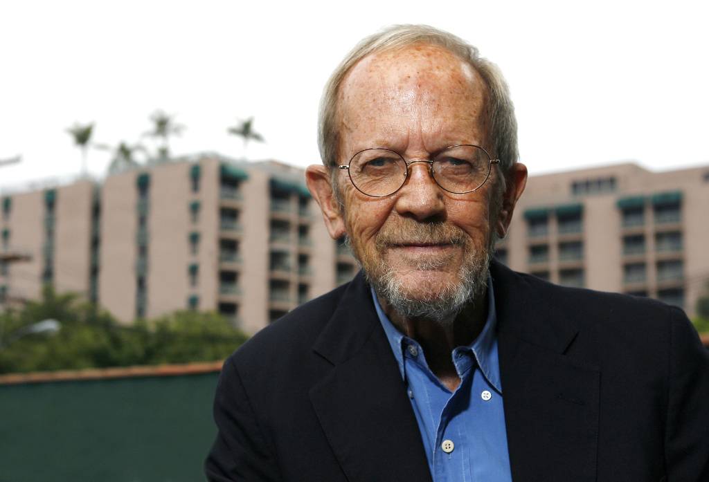 Author Elmore Leonard poses during a portrait session prior to a reading and signing of his latest novel