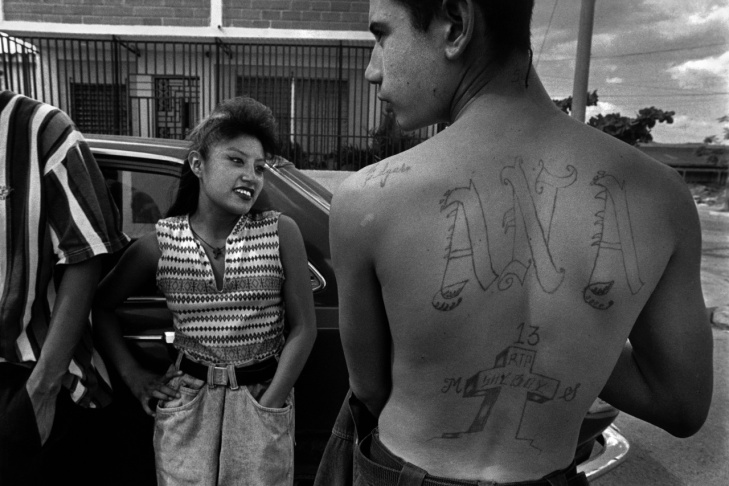 Watts, Los Angeles, 1994. Three-year-old