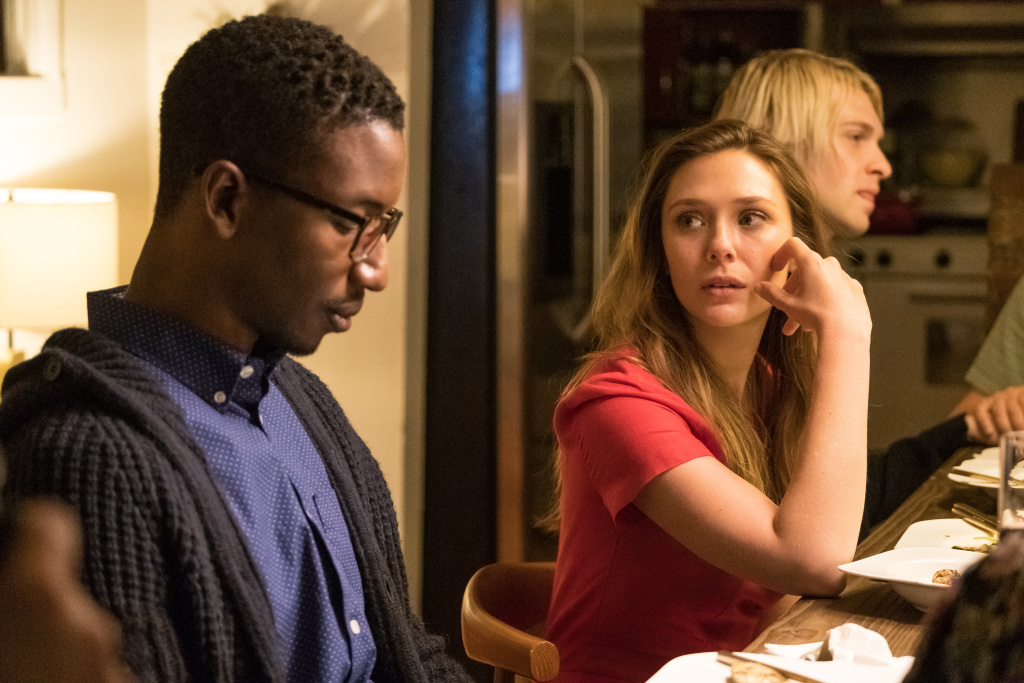 Mamoudou Athie and Elizabeth Olsen in a scene from the Facebook Watch series,