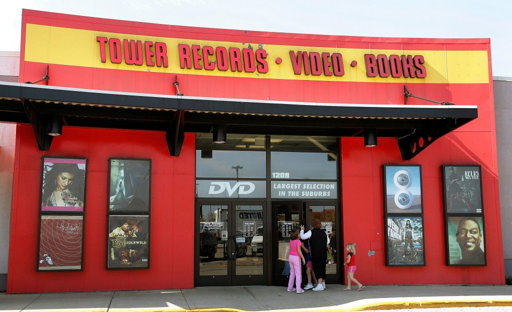 Signage is displayed at a closing Tower Records store October 9, 2006 in Schaumburg, Illinois. 46-year-old Tower Records is closing its stores, costing approximately over 3,000 jobs and most of its assets are being liquidated.
