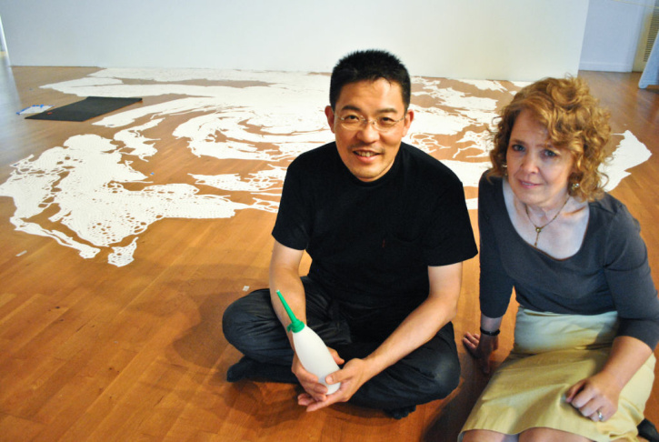 Return to the Sea: Seaworks by Motoi Yamamoto, will be in display at the Laband art gallery in Loyola Marymount University from September 8 to December 8, 2012. On the last day of the exhibit, the public will be invited to help collect the sand and return it to the Pacific Ocean.