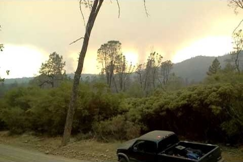 Swedes fire Oroville Bangor California 8-17-2013 @ 6 pm