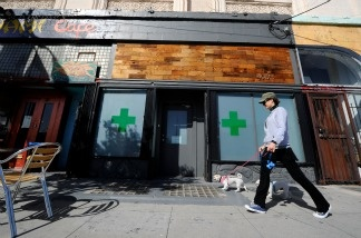 The Sunset Junction medical marijuana dispensary is seen on May 11, 2010 in Los Angeles, California.