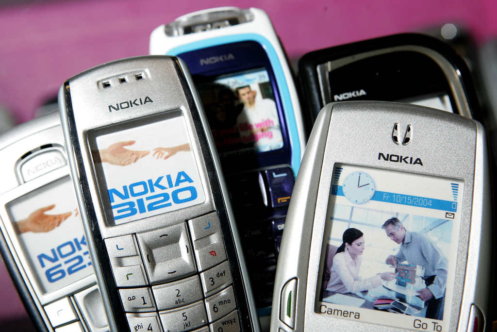 Nokia cellular phones are seen on display at wireless store in San Mateo, California.