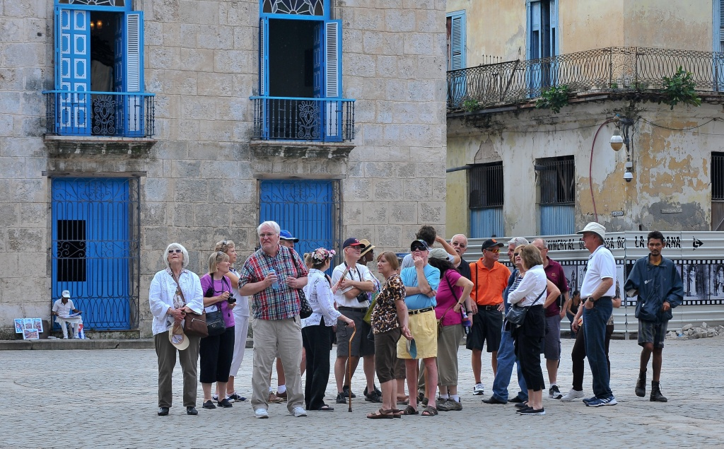 Tourists visit Old Havana on Dec. 16, 2015.