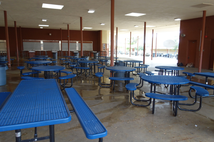 Olive Vista Middle School lunch shelter