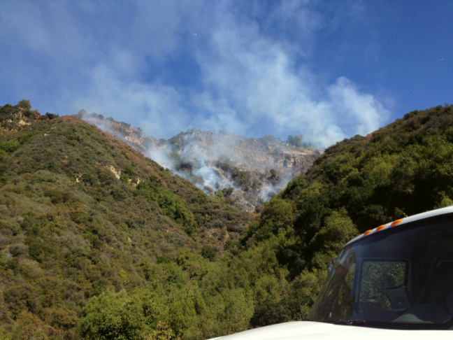 The Lookout Fire after one hour.