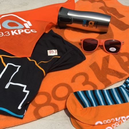 Share a photo of how you are part of the KPCC family and you could win this prize pack!