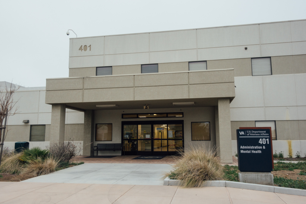 Building 401, South of Wilshire Boulevard, is part of the medical campus of the West LA VA. It's the future home of the PTSD Clinic currently housed in Building 256.