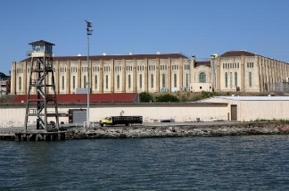 A view of the California State Prison at San Quentin.