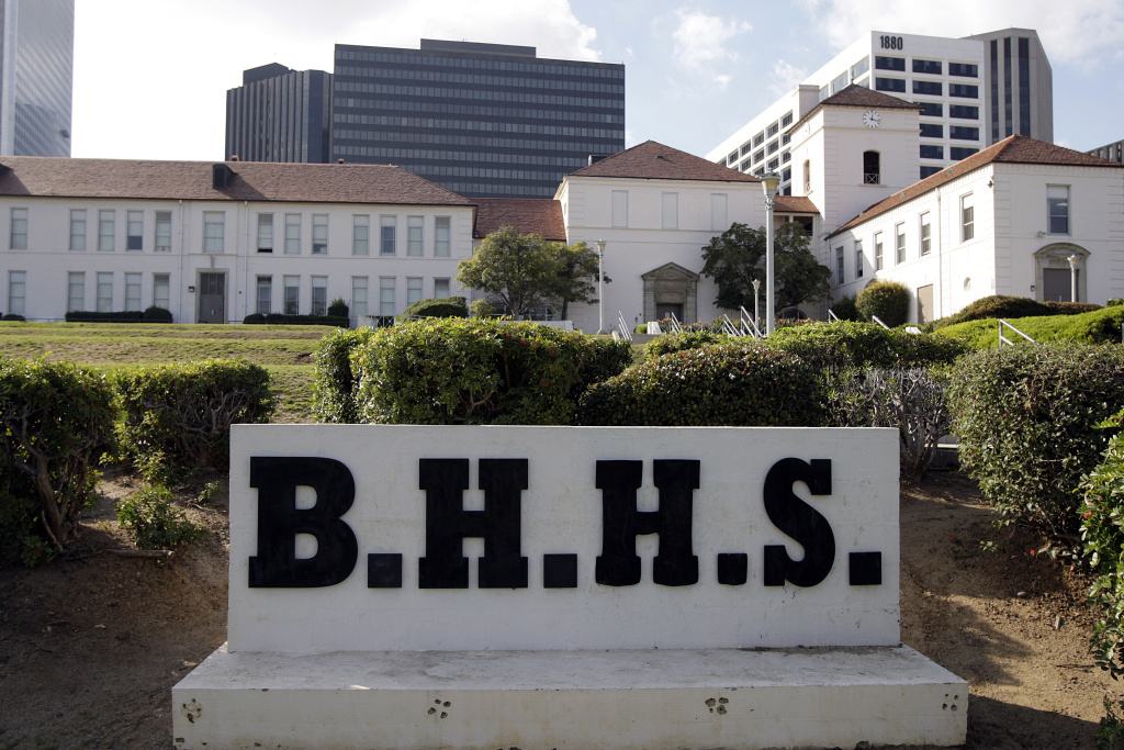 Beverly Hills High School is seen in Beverly Hills, CA in 2009.