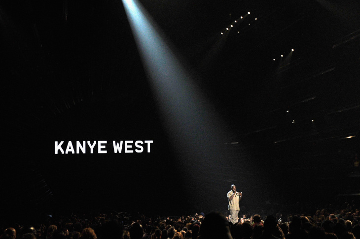 Vanguard Award winner Kanye West speaks onstage during the 2015 MTV Video Music Awards at Microsoft Theater on Aug. 30, 2015 in Los Angeles.