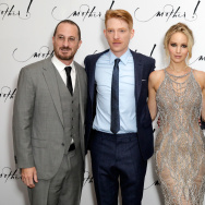 "Director Darren Aronofsky, actors Domhnall Gleeson and Jennifer Lawrence and producer Scott Franklin attend the UK Premiere of ""mother!"" at the Odeon Leicester Square."