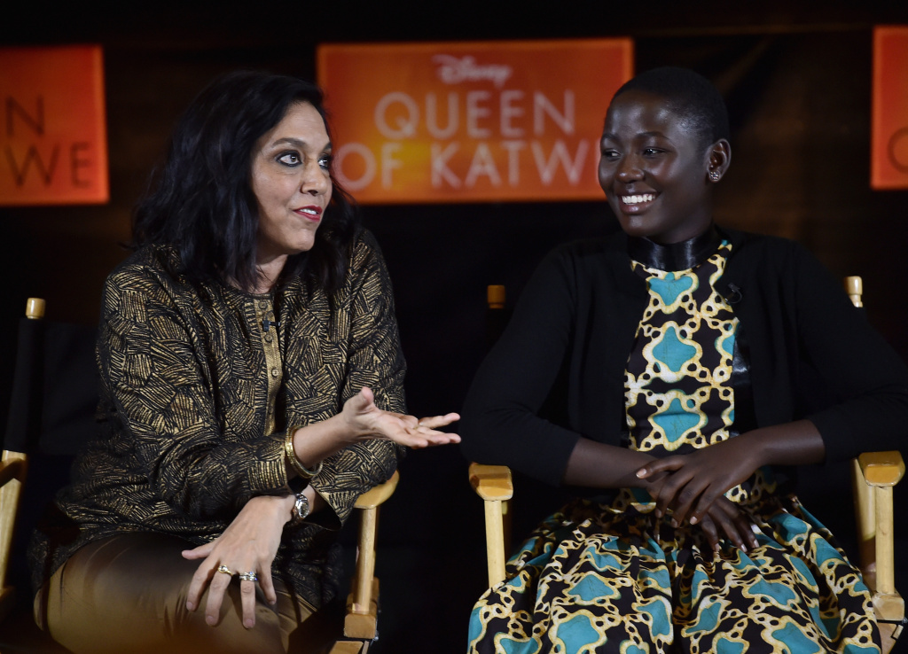 Director Mira Nair, left, says the story of actress Madina Nalwanga is very close to that of the character she plays in