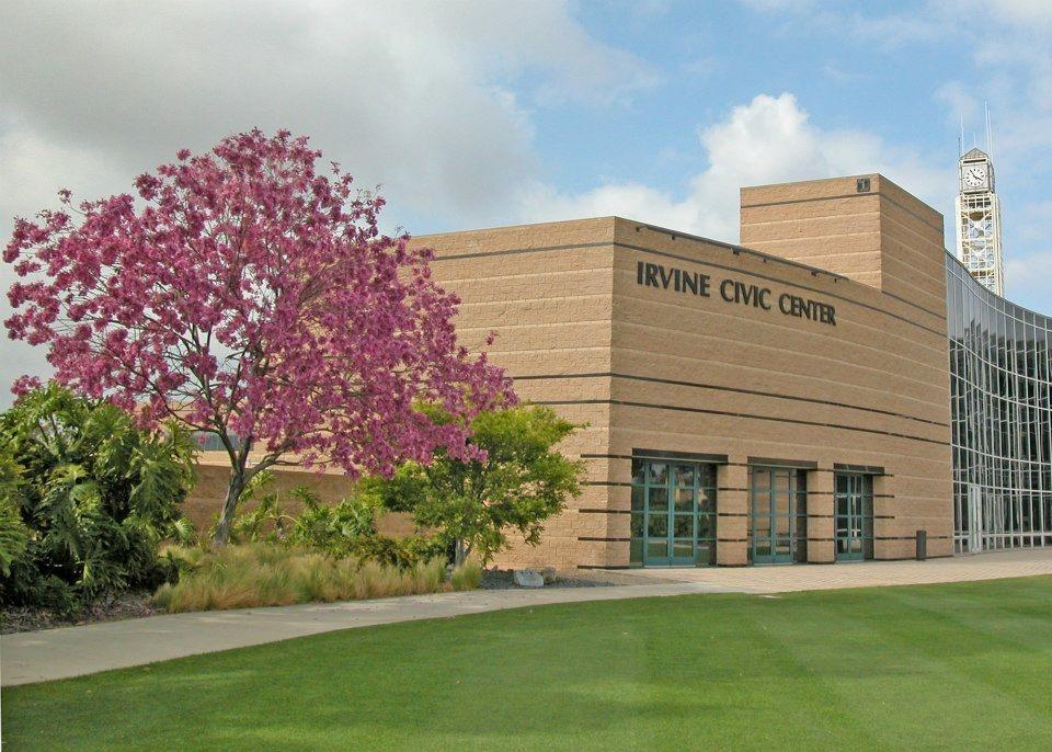 Image of the Irvine Civic Center.