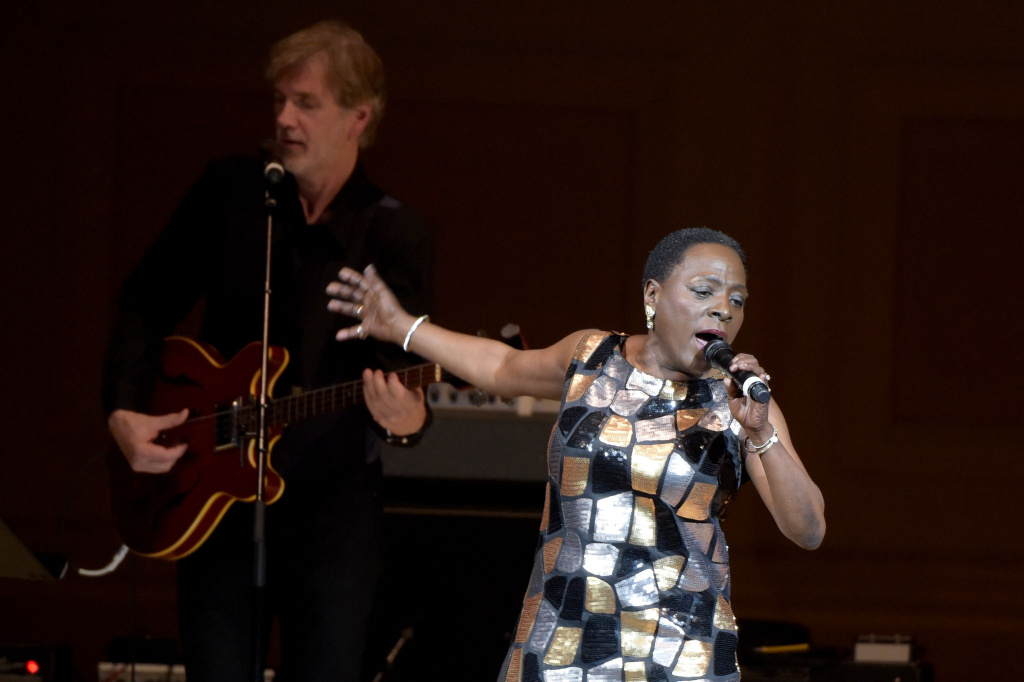 Singer Sharon Jones performs onstage at the 26th Annual Tibet House U.S. benefit concert at Carnegie Hall on February 22, 2016 in New York City.