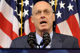 Then-Treasury Secretary Henry Paulson speaks on Sept. 7, 2008, during a news conference on the bailout of mortgage giants Fannie Mae and Freddie Mac. Paulson has written a memoir recounting key moments of the financial crisis.