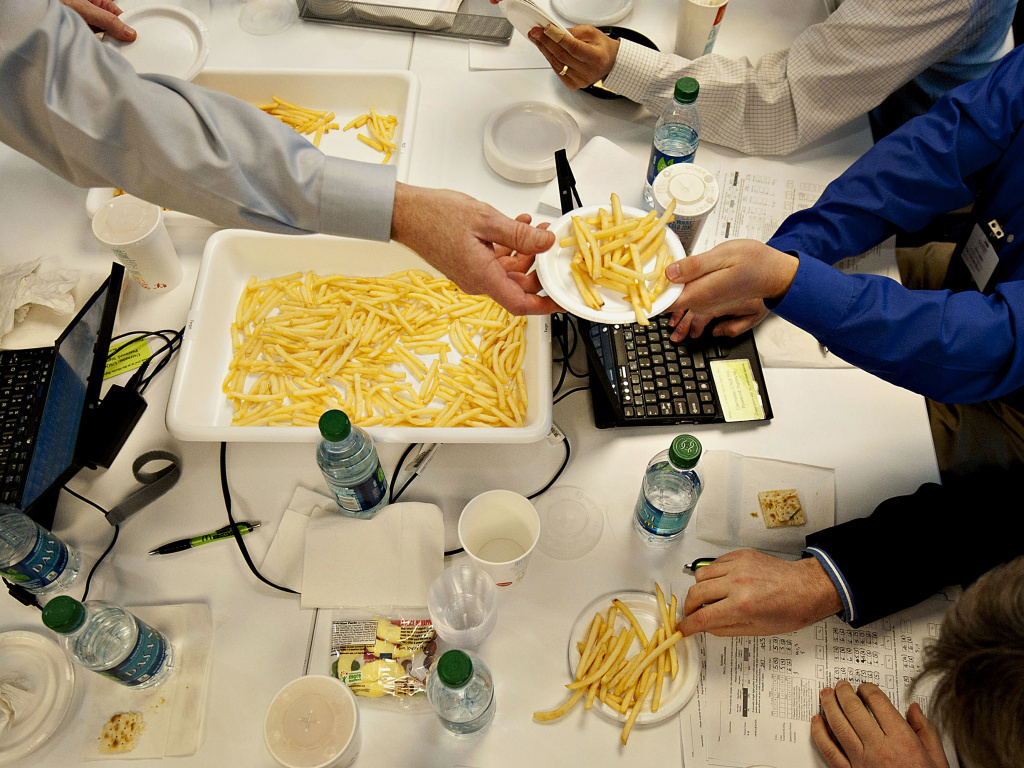 Food companies invest heavily in running their products through taste tests with trained sensory panelists. Here, a blind taste testing event at McDonald's headquarters in Oak Brook, Ill., in 2012.
