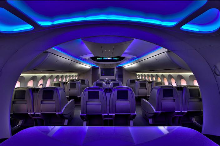 Boeing 787 Dreamliner First Class Cabin
