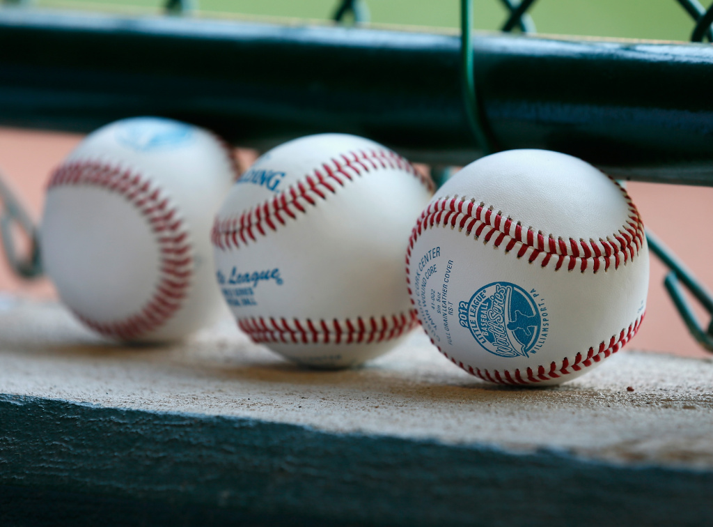 Baseballs sit on the ledge during the Little League World Series game on August 23, 2012 in South Willamsport, Pennsylvania.