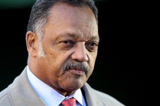 FILE: Civil rights campaigner Reverend Jesse Jackson gives an interview near Parliament on October 20, 2010 in London, England.
