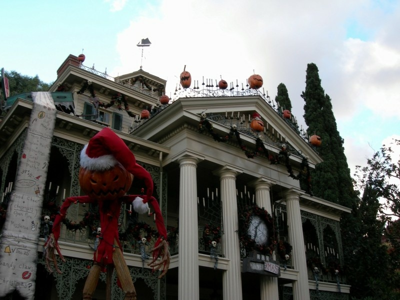 Disneyland's Haunted Mansion (seen here decorated for the holidays) has now been around for 40 years.