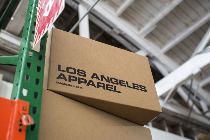 American Apparel founder Dov Charney's new label Los Angeles Apparel is based in a 120-year-old building in South Los Angeles.