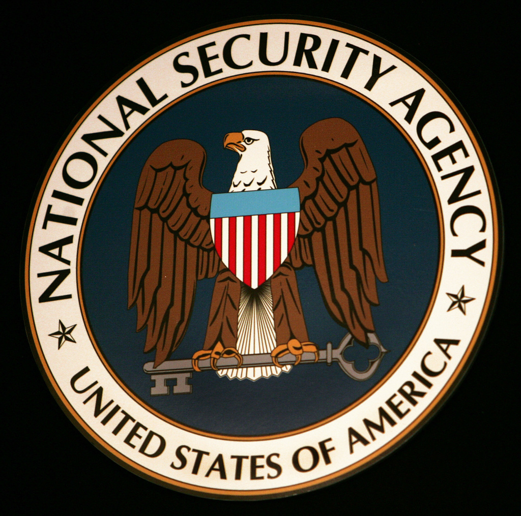 Logo of the National Security Agency. The NSA has allegedly been surveilling various Muslim-Americans.