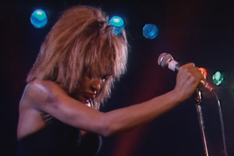 Archival footage of Tina Turner performing, used in the documentary