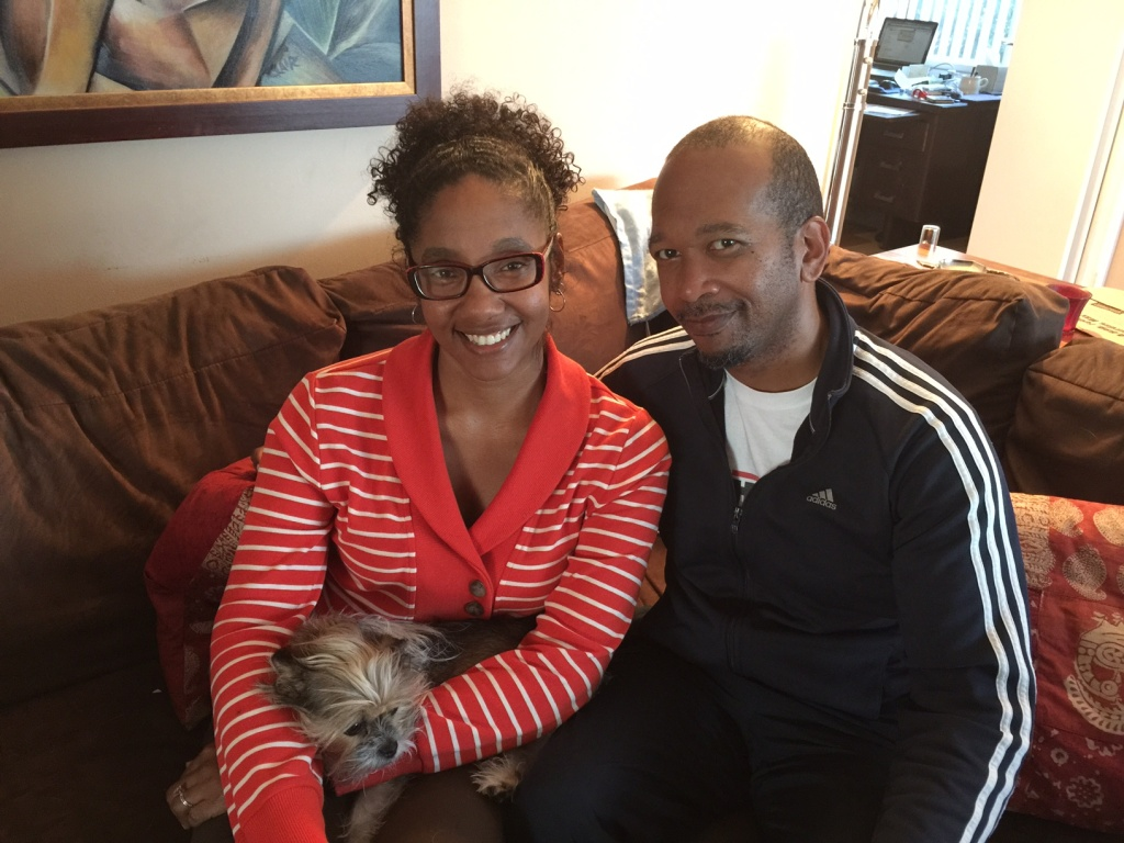 Clare Norris and Marcus Bellringer, a couple in the process of qualifying as foster carers in L.A.