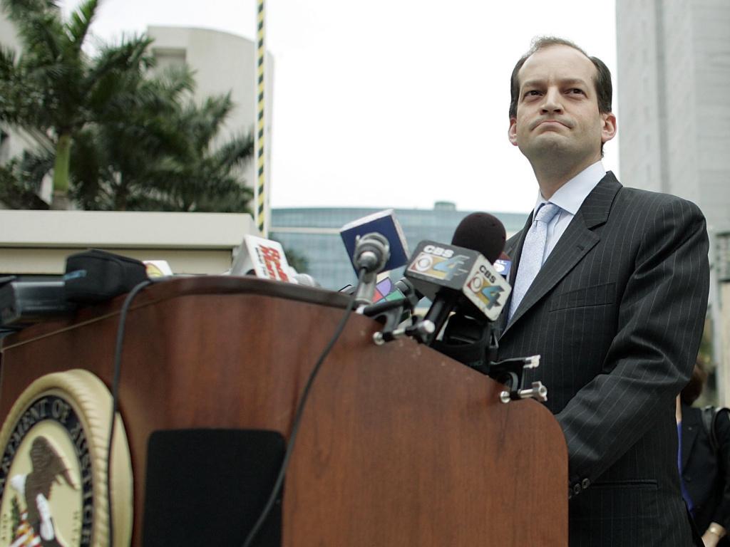 R. Alexander Acosta, seen in 2007, is President Trump's new pick for labor secretary.