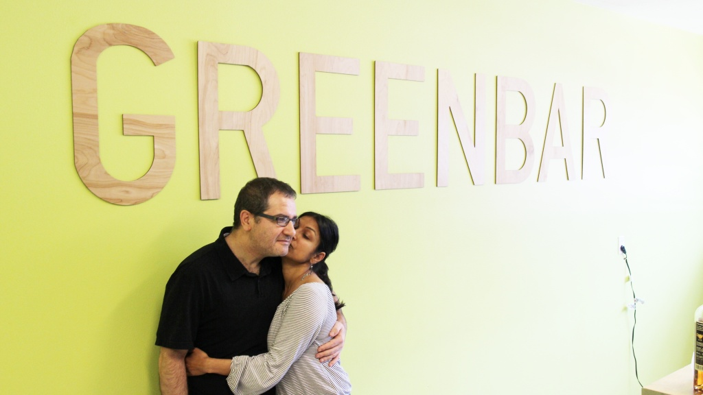 Greenbar founders Litty Mathew and Melkon Khosrovian