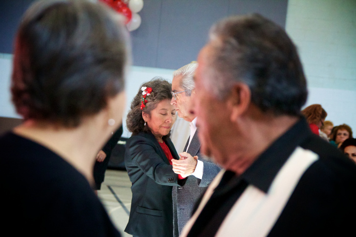 Many seniors danced to slow songs, as the bands tried to mix them in with more uptempo ones.