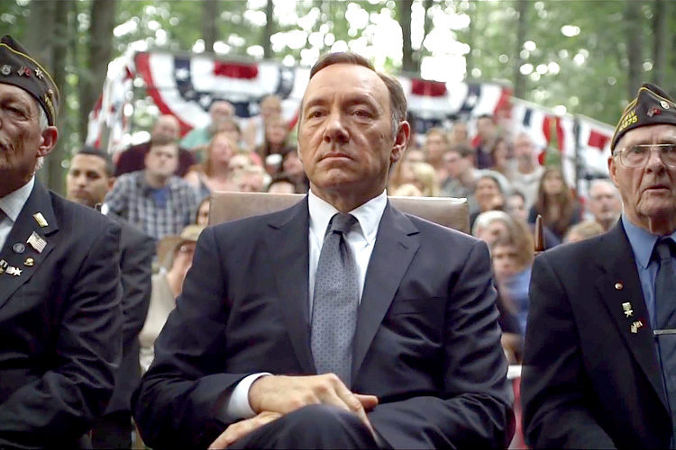 Kevin Spacey stars as Frank Underwood in the Netflix show