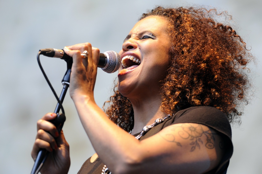 US singer Neneh Cherry performs during the 47th Heineken Jazzaldia on July 23, 2012 in the Northern Spanish city of San Sebastian.