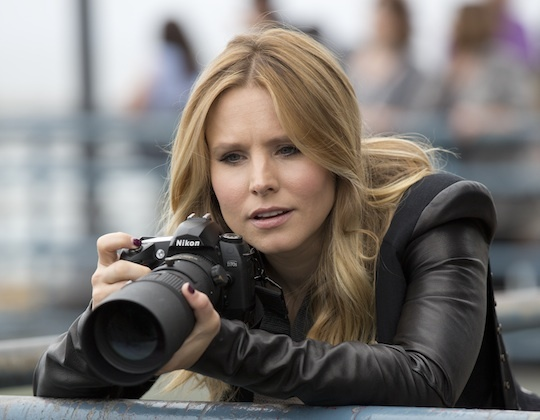 "Kristen Bell stars in the ""Veronica Mars"" movie, a film funded through Kickstarter that debuts this weekend."