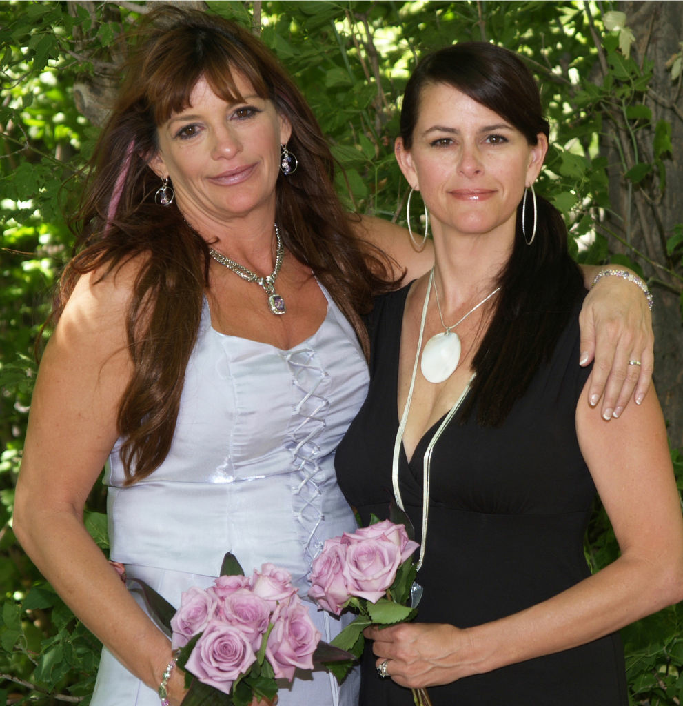 Linda Webb (right) was the maid of honor at her sister's wedding. Webb was killed by a gunman in 2011. Her sister does not want the death penalty for the killer.