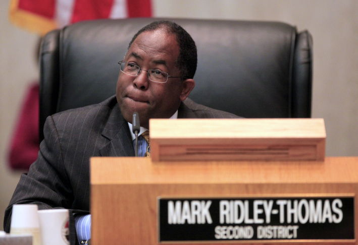 FILE: Los Angeles County Supervisor Mark Ridley-Thomas is running unopposed for one of three Board of Supervisors seats on the ballot in this year's election.