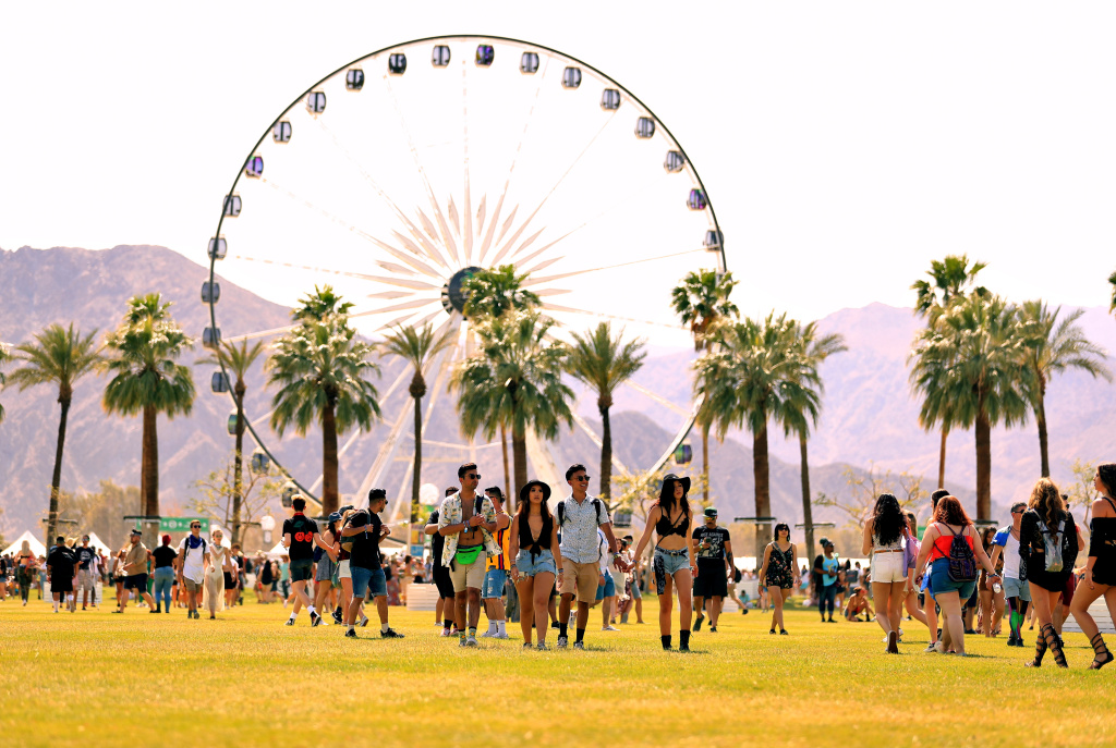 INDIO, CA - APRIL 13:  Festivalgoers attend the 2018 Coachella Valley Music And Arts Festival at the Empire Polo Field on April 13, 2018 in Indio, California.  (Photo by Christopher Polk/Getty Images for Coachella)
