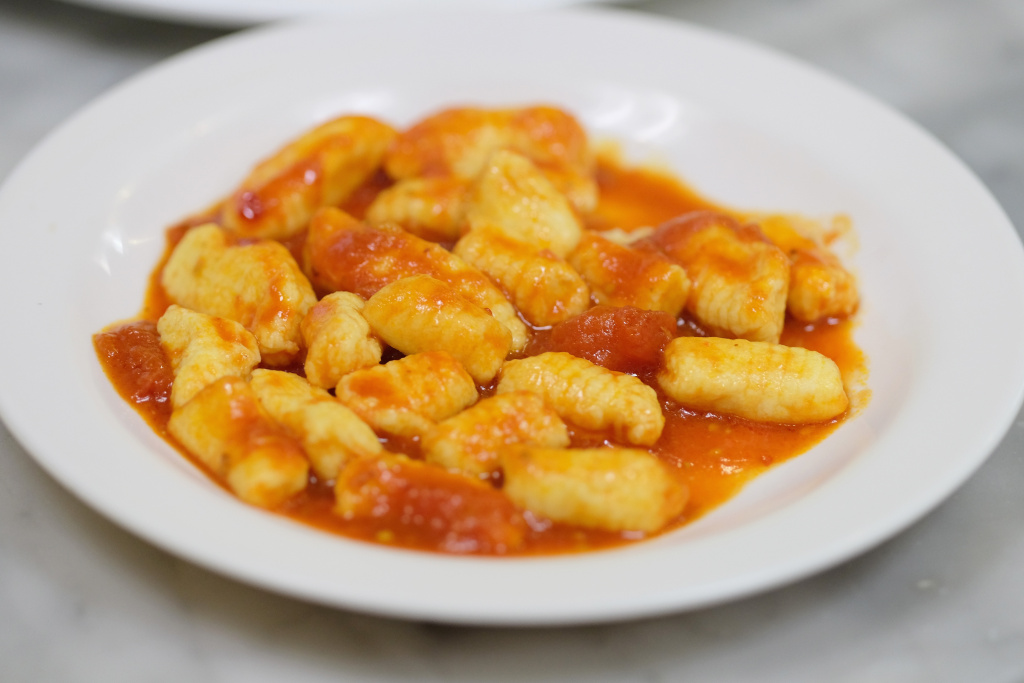 Ricotta gnocchi during chef Missy Robbins's cooking class at the 8th Annual New York Culinary Experience on April 16, 2016.