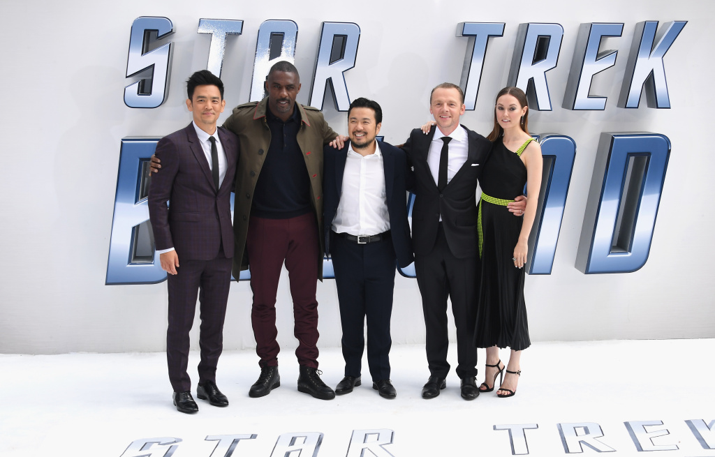 John Cho, Idris Elba, Justin Lin, Simon Pegg and Lydia Wilson arrive for the UK premiere of