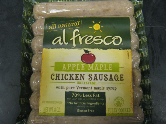 The USDA recalled 12-ounce packages of Sweet Apple Chicken Sausage sold at Trader Joe's stores nationwide and marked with expiration dates of April 22, 25 and 29.