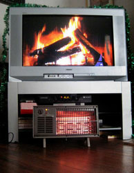 The 2009 Yule Log — HD, but not 3-D.