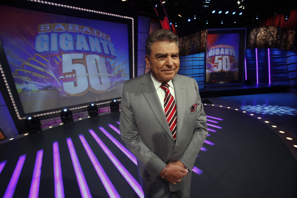 In this photo taken on Feb. 3, 2012, Chilean born host of the Univision network variety show