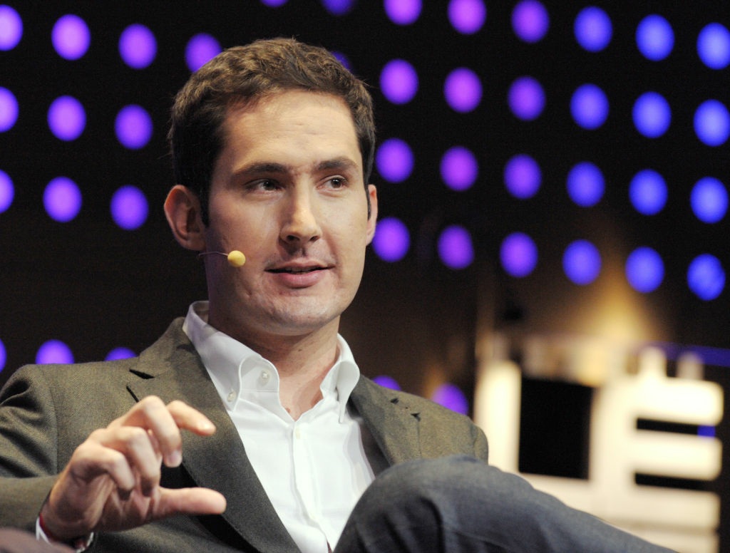 CEO and co-founder of Instagram Kevin Systrom talks during a session at LeWeb Paris 2012 in Saint-Denis, near Paris on December 5, 2012.
